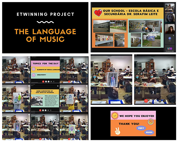 "11ºB - Projeto Etwinning ""The Language of Music"""