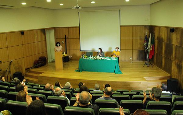 Cerimónia da tomada de posse da professora Helena Resende, nova diretora do Agrupamento de Escolas Dr. Serafim Leite.